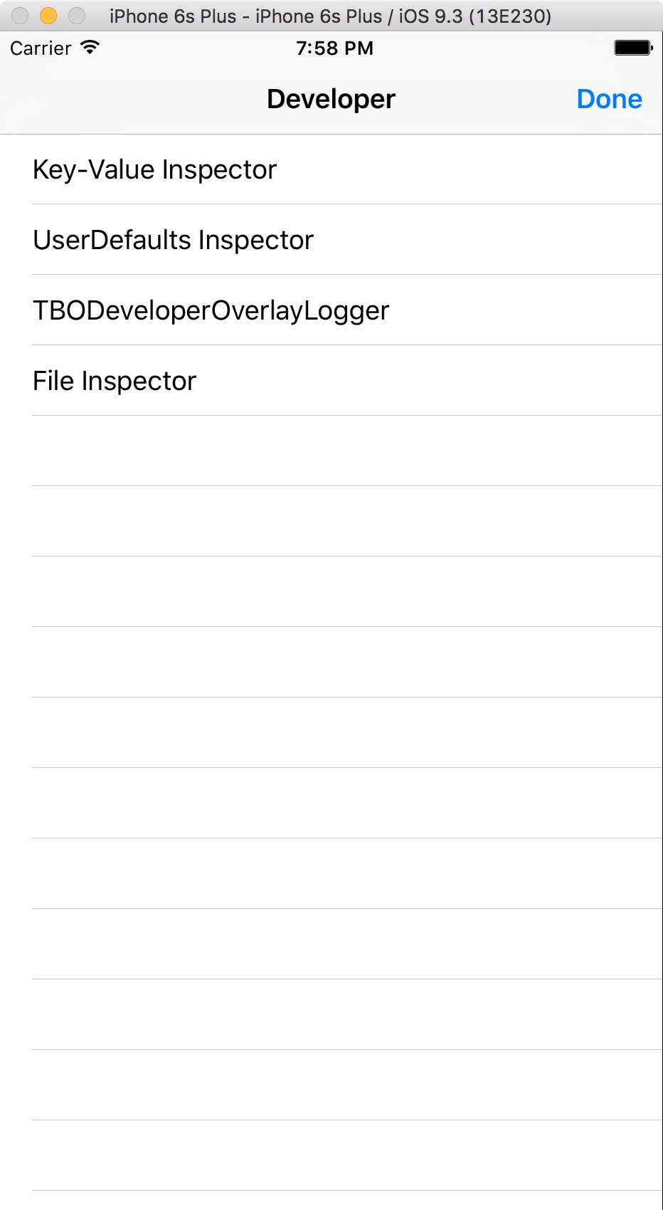TBODeveloperOverlay Plugin List